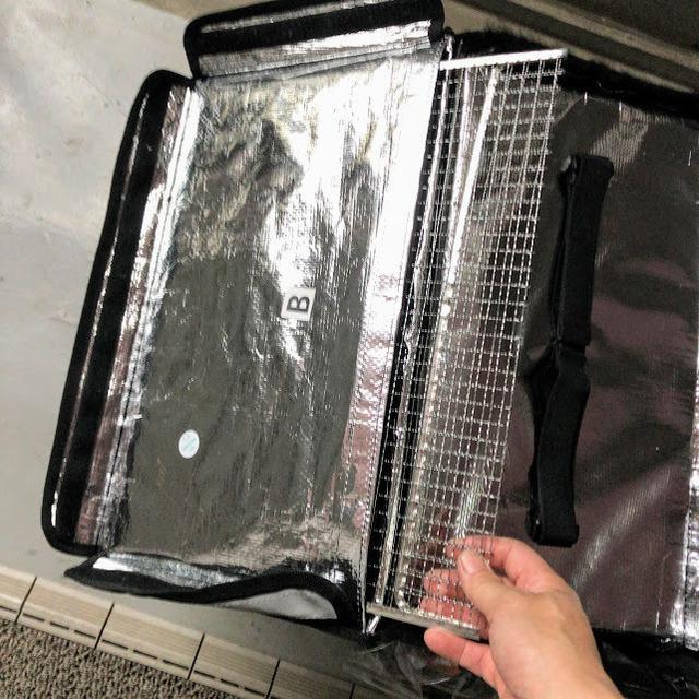 ウーバーイーツ バッグ 改造 宙吊り仕様へUberEatsBag_kaizou04.JPG