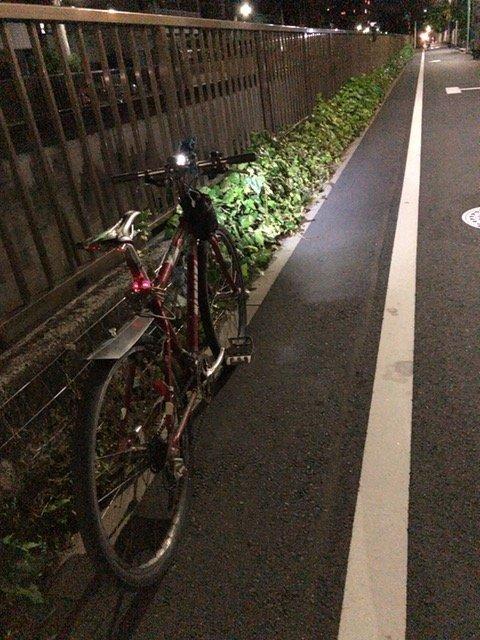 ウーバーイーツ_ubereats_night_bike